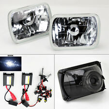 "7X6"" 8000K HID Xenon H4 Crystal Glass Headlight Conversion w/ Bulbs Pair TOYOTA"