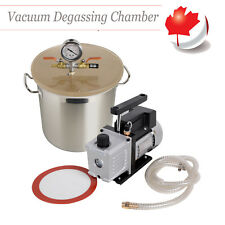 CA Sale 5Gallon Vacuum Chamber and 3 CFM Single Stage Pump to Degassing Silicone