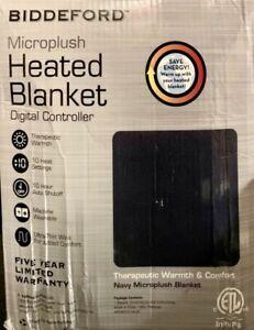 Biddeford Twin Size Microplush Heated Blanket with Digital Controller