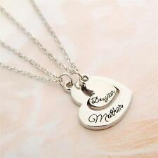 2P Heart Mother Daughter Mom Mommy Pendant Necklace Family Women Girl Gift Party