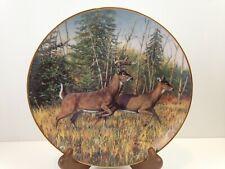 Friends of the Forest Indian Summer Flight Deer Plate Bruce Miller Danbury g3b