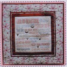 SALE - PATTERN - The Rules of Life - stitchery & pieced cushion PATTERN
