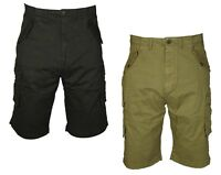 KAM Mens Shorts Combat Cargo Chino Cotton Summer Casual Big Tall King Size