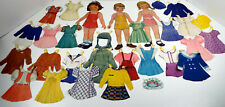 "Vintage Paper Dolls Collection 30 Piece Estate Lot 11"" Cardboard Dolls"