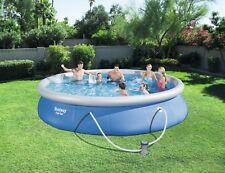 Bestway Fast Set Pool 457x84cm mit Filterpumpe 57313 Planschbecken Swimming Pool