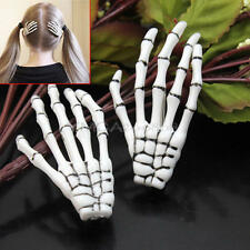 2pcs Halloween Party Zombie Skull Skeleton Hand Bone claw Hairpin Punk Hair Clip