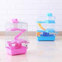 Portable Maison de Luxe à Trois étages avec Cage pour Petits Animaux Hamster