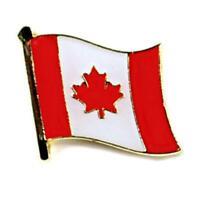 Canadian Flag Lapel Pin, Canada Maple Leaf Flag Hat Tie Tack Metal Badge