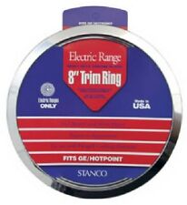 """Stanco 2 Pack, CAL/GE, 8"""" Chrome Trim Ring, Triple Plated Chrome Steel"""