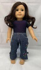 """American Girl Doll """"Ruthie"""" 18"""" Dark Brown Hair Green Eyes"""