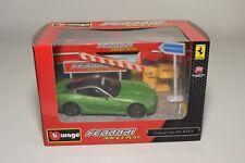 V 1:43 BBURAGO BURAGO RACE&PLAY FERRARI 599 HY-KERS GREEN DIORAMA MIB