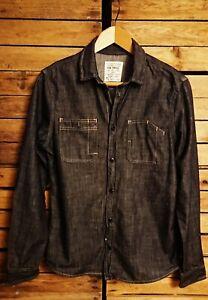 All Saints Men's Denim Slim fit Shirt. Size S