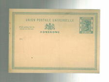 Mint Hong Kong Postal Stationery Postcard One Cent toned