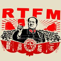 RTFM chairmen Mao men unisex t-shirt O-neck 100% 180gsm 5.3oz ringspun cotton