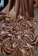 1M BRIDAL DRESS   Copper  COLOURED SATIN FABRIC.BACK CREPE 58 WIDE