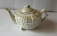 Late 19th /Early 20th Century  China Lustre Wear Souvenir Shell Teapot