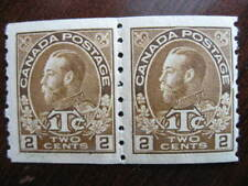 Canada Scott MR7iii MNH pair (has been folded at perfs)