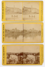 5 ca 1880 Views on the Hudson stereoview photos, Wyer photographer,  Yonkers NY