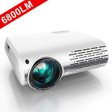 Projector,6500 Lumens 1080P HD LED Projector With 4D ±50° Keystone Correction ..