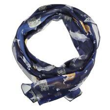 Écharpes et châles bleu avec des motifs Empreintes animales pour femme