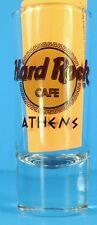 "Hard Rock Cafe ATHENS Shot Glass Black Text 4"" Cordial Shooter Barware RARE"