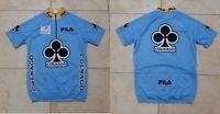 Colnago Cycling Shirt Fila Italy Cycle Camiseta Size M  Blue Vintage 1990/95