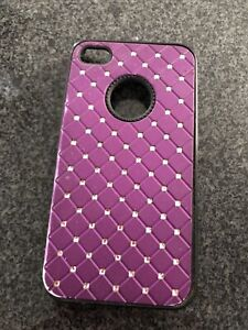Bright Pink Back Case for Apple iPhone 4S Used Silicone/Gel/Rubber Type