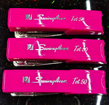 3 Swingline Tot 50 Staplers PINK Vintage Home Office Supply~Fast Ohio Shipping~