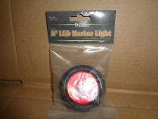 "BUYERS TRUCKSTAR PART # 5622101 2"" RED 1 LED MARKER LIGHT WITH GROMMET AND PLUG"