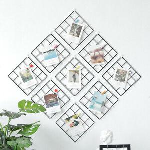 Grid DIY Wall Photos Postcards Wall Art Display Mesh Organizer Pictures Frame*AU