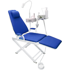 Dental Portable Chair Unit with LED Lamp + Turbine Unit Metal Shell 4H US STOCK