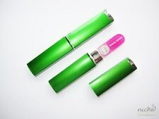 PREMIUM QUALITY Patented PINK MINI GLASS NAIL FILE and GREEN PROTECTIVE CASE