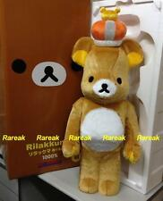 Medicom 2013 Be@rbrick Rilakkuma 1000% Frocky Brown Rilakkuma w/ Crown Bearbrick