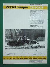 1988 PUB ZETTELMEYER KONZ ZD 3000 F DOZER MILITARY BULLDOZER ORIGINAL AD