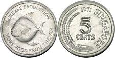 elf Singapore 5 Cents 1971 FAO  Pomfret Fish