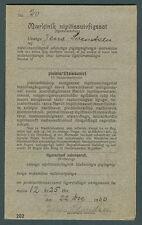Greenland Savings Book w/GRAY cover SPAREMAERKE stamps tied Tasiussak