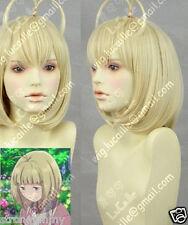 NEW Aono Exorcist Shiemi Moriyama CV Cosplay Short Blond Wig SS