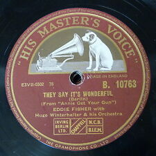78rpm EDDIE FISHER they say it`s wonderful / green years
