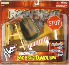 "WWF WWE Grapple Gear RAW HEAT ""Side Street Demolition"" Wheel Barrow Jakks(MOC)"