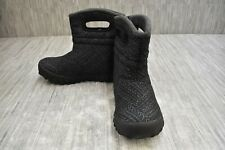 Bogs B-Moc Fleck 72275-009 Insulated Boots, Big Kids Size 4, Black NEW