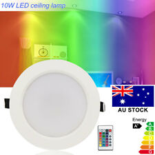 10w RGB LED Recessed Ceiling Light 16 Color Change Downlight Lamp Remote Control