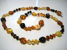 Natural Baltic Amber Children's  NECKLACES - Oval Beads - Choose your color!!!