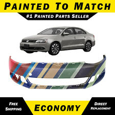 NEW Painted to Match Front Bumper Cover for 2011-2014 Volkswagen VW Jetta 11-14