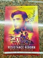 Star Wars Resistance Reborn NYCC Card SIGNED by Author 2 Sided 5x7 NO Book Novel