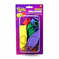 "5 Pack Punch Balloons Assorted Colour 18"" globos de aire sólo Elástico"
