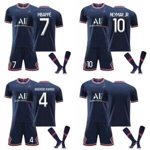 21/22 Paris Nr. 7 Mbappé Nr. 10 Neymar Fußballuniform Anzug Nr. 4 Ramos Trikot