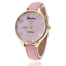 Mujer Hombre Ginebra Reloj Relojes pulsera Dibujo Corazón Watche Regalo