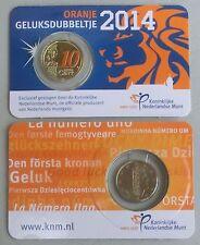 10 Euro Cent Niederlande 2014 Het Oranje Geluksdubbeltje in Farbe