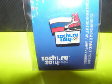 SOCHI 2014 WINTER OLYMPIC GAMES TEAM  RUSSIA FLAG/SKATE HOCKEY PIN