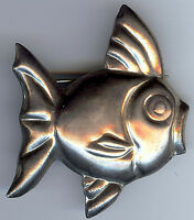 VINTAGE MEXICO 925 STERLING SILVER FISH PIN BROOCH*